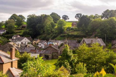 Llanrhaeadr-ym-Mochnant (view from our cottage)