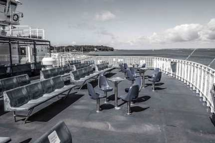The ferry deck